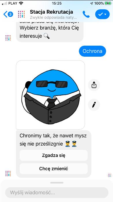 Chatbot rekrutacyjny Impel (Stacja Rekrutacja)